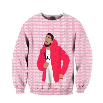 Men Hoodie Jumper Outfits Jogger Drake Ovo 1-800 Hotline Bling 3D Sublimation print fleece Sweatshirt Crewneck Sweats Plus Size
