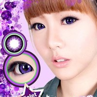 KOREA COLOR EYE CONTACT LENSES/ CHERRY/ VIOLET COLOR WITH CASE