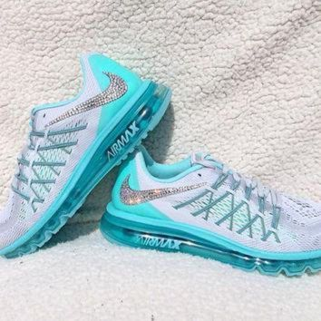 Crystal Nike Air Max 2015 Bling Shoes with Swarovski Elements Wo f72b37183c20
