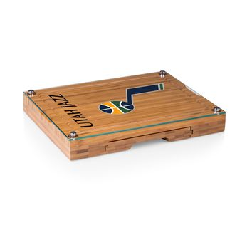 Utah Jazz - 'Concerto' Glass Top Cheese Board & Tools Set by Picnic Time