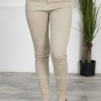 Khaki Basic Skinny Denim
