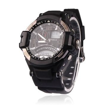 Multi Function Military Digital LED Quartz Sports Watch Waterproof
