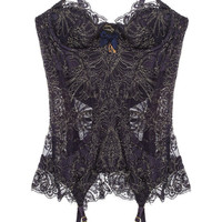 Agent Provocateur|Cordeliyah embroidered lace basque|NET-A-PORTER.COM