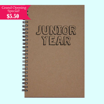 Junior Year - Journal, Book, Custom Journal, Sketchbook, Scrapbook, Extra-Heavyweight Covers