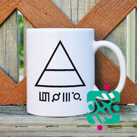 30 Seconds To Mars Triangle Coffee Mug, Ceramic Mug, Unique Coffee Mug Gift Coffee