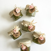 24 Jasmine Green Tea Sugar Scrubs Wedding guest favors , party favors, rustic wedding favors, unique wedding favors