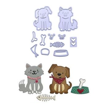 New Cute Cat and Dog Metal Cutting Dies for DIY Scrapbooking Photo Album Embossing Paper Cards Decorative Crafts Animal Die Cuts