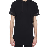 Genesis Overlay Hooded Tee - Black