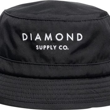 Diamond Stone Cut Bucket Hat L/XL Black