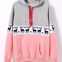 Fashion hedging long-sleeved fleece sweater XF1201F