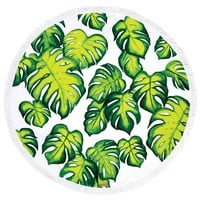 Palm Round Beach Towel