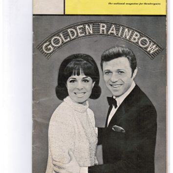 "Steve Lawrence ""GOLDEN RAINBOW"" Eydie Gorme 1968 Premiere Performance Playbill"
