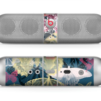 The Multi-Styled Yellow Butterfly Shadow Skin for the Beats by Dre Pill Bluetooth Speaker