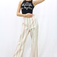 Rainbow Stripe Vintage 70's Trousers