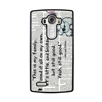 lilo and stitch quotes disney lg g4 case cover  number 2
