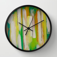 Encounters Wall Clock by Sophia Buddenhagen