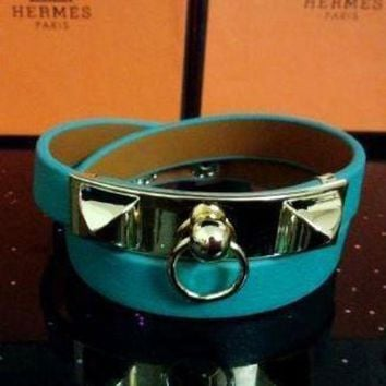 CREYUP0 Hermes Women Fashion Leather Bracelet Jewelry-5