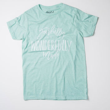 Fearfully and Wonderfully Made - Tee (Summer Mint)