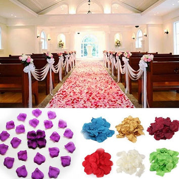 DCW 100pcs Various Colors Rose Petals Wedding Party Decorations = 1706375236