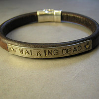 Men's Leather Bracelet Walking Dead by SharonWiselyJewelry on Etsy