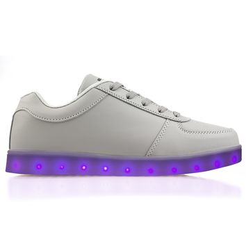 Light Up Original Grey - Low Top LED Shoes