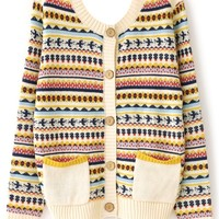 Tribal Chic Geo Cardigan - OASAP.com