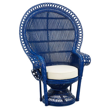 Peacock Chair, Navy, Accent & Occasional Chairs