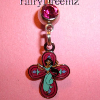 Princess Jasmine From ALADDIN Disney Belly Navel Ring Body Jewelry