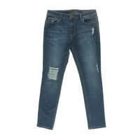 DL 1961 Premium Womens Distressed Classic Skinny Jeans