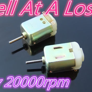 1pcs K810 Golden Color 130 Micro DC Motor With 2 Heat emission Hole 4V 20000rpm Teaching Aids DIY Model Part Sell At A Loss USA