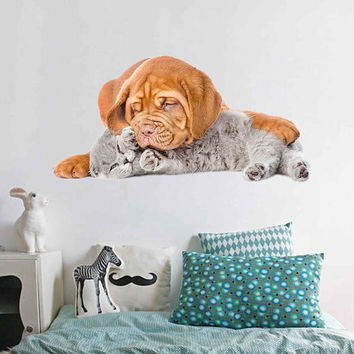 dog Wall Decals cat wall decor Animals wall Decals dogs Full Color Decals dog Art Sticker veterinary clinic decor Home Decor cik2230