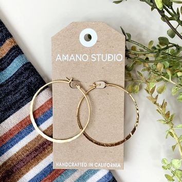 Large Hammered Hoops- 3 Options