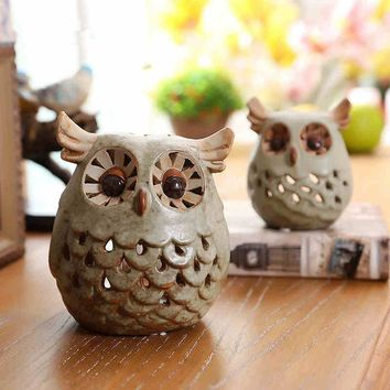 Owl  Tealight Candle Holder Centerpiece