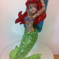 Exclusive Bling  Little mermaid iphone 5 case stand by Crystaljam