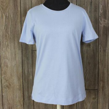 Ann Taylor M size New Blue Top Womens Career Casual Easy Wear Blouse 24.50 Shirt