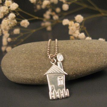Sweet home pendant in sterling silver by DvoraSchleffer on Etsy