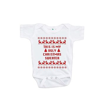 Custom Party Shop Baby's This Is My Ugly Christmas Sweater Onepiece