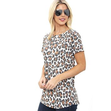Criss Cross Back Top - Leopard