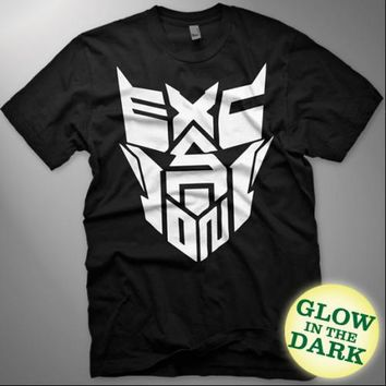 Excision - Robot Face Glow-In-The-Dark T-Shirt (Black)