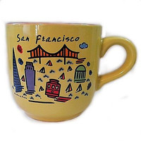 San Francisco Luke-A-Tuke Mug Coffee Tea 12oz Espresso California Landmark K124