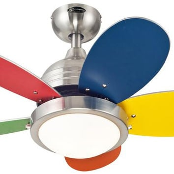 Roundabout 30-Inch Reversible Five-Blade Indoor Ceiling Fan