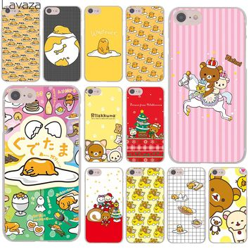 Lavaza Lovely gudetama Rilakkuma More Emoji funny Cover Case for iPhone X XS Max XR 6 6S 7 8 Plus 5 5S SE 5C 4S 10 Phone Cases