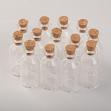 small glass jars with Wood lid 18*40*7mm 5ml Mini empty glass bottles glass vial 100pcs/lot Free Shipping