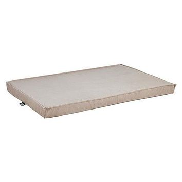 MicroVelvet Cool Gel Memory Foam Mattress Crate Pad — Sandstone