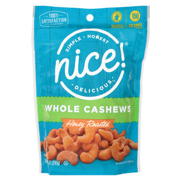 Nice! Whole Cashew Honey Roasted
