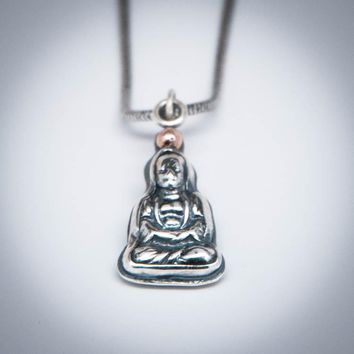 Buddha 14K Gold Halo Necklace