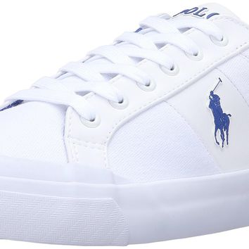 Polo Ralph Lauren Men's Ian Canvas Fashion Sneaker Pure White 11 D(M) US '