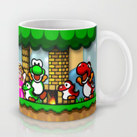 Super Mario World Happy Ending Mug by likelikes