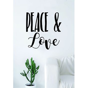 Peace and Love Quote Wall Decal Sticker Bedroom Living Room Art Cute Vinyl Beautiful Inspirational Teen