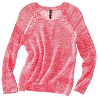labworks Women's Long-Sleeve Scoop Neck Sweater - Pink